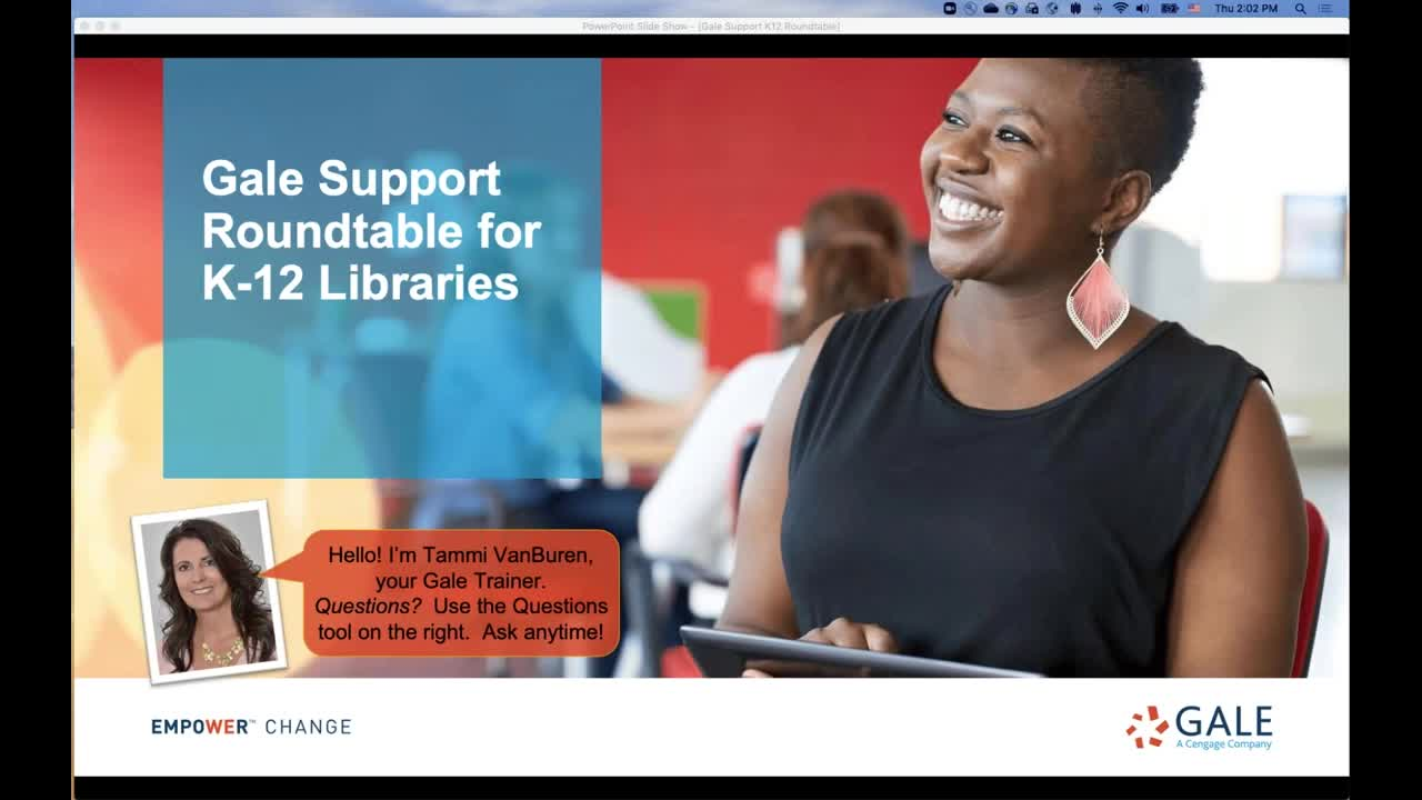 Gale Support Roundtable for K-12 Libraries Thumbnail