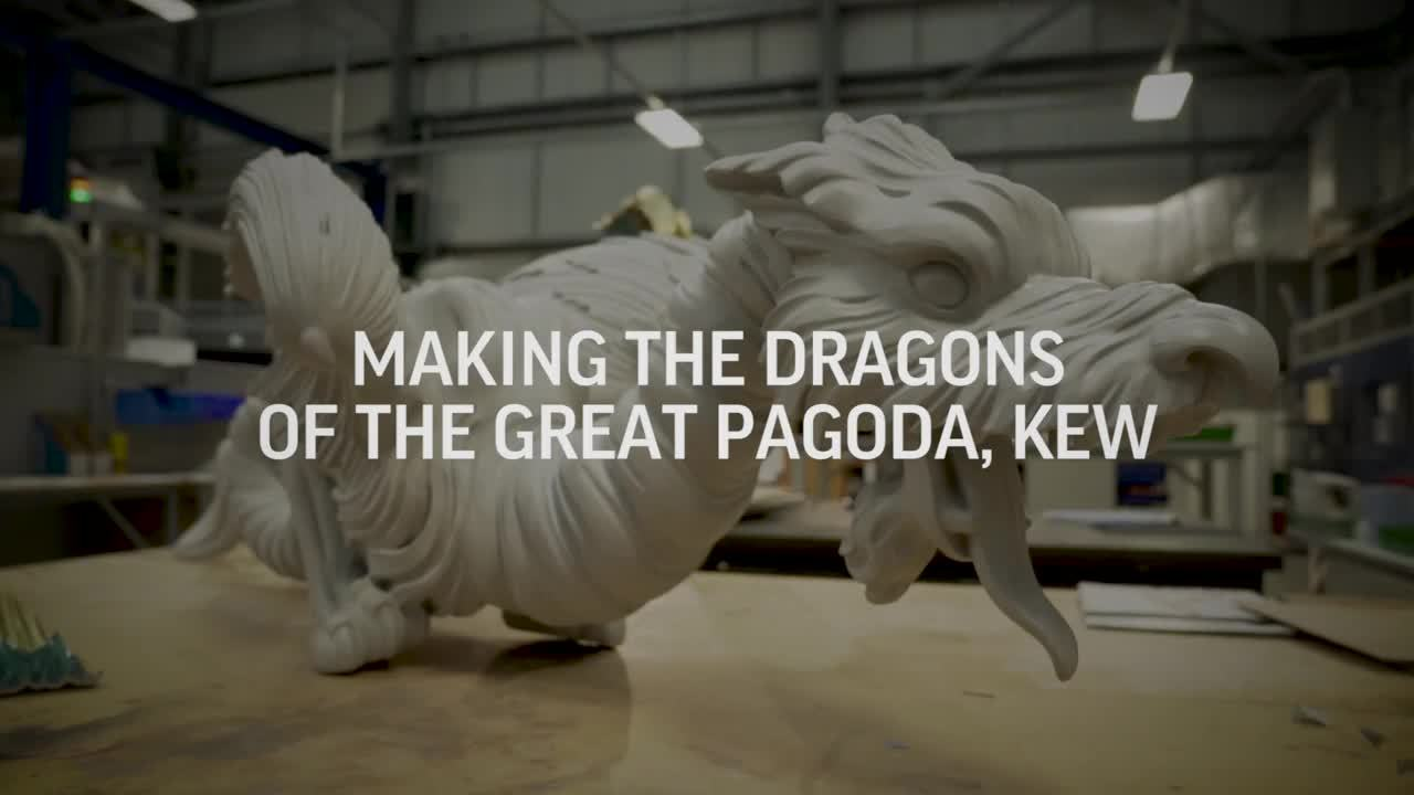 3D printing the dragons for the Great Pagoda, KEW