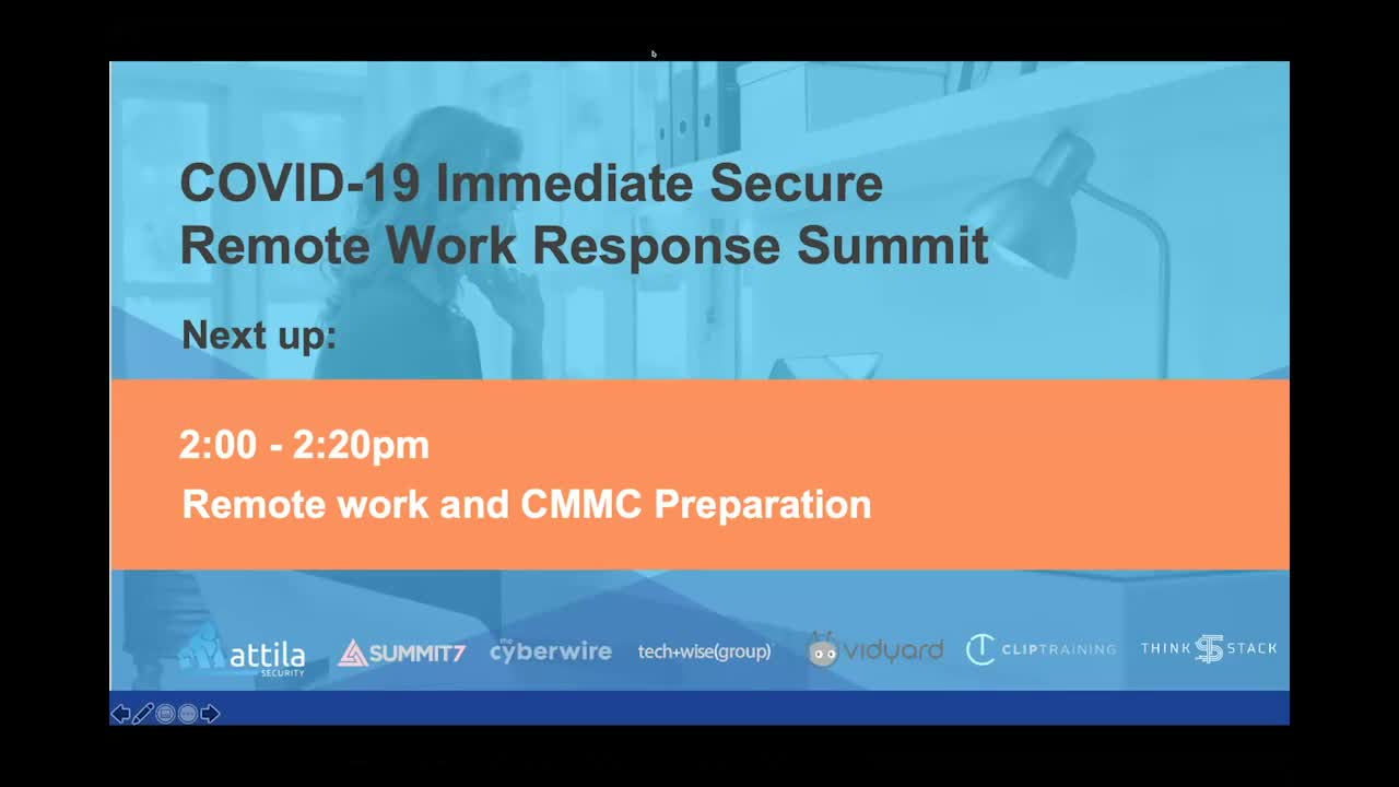 Remote Work and CMMC Preparation Video