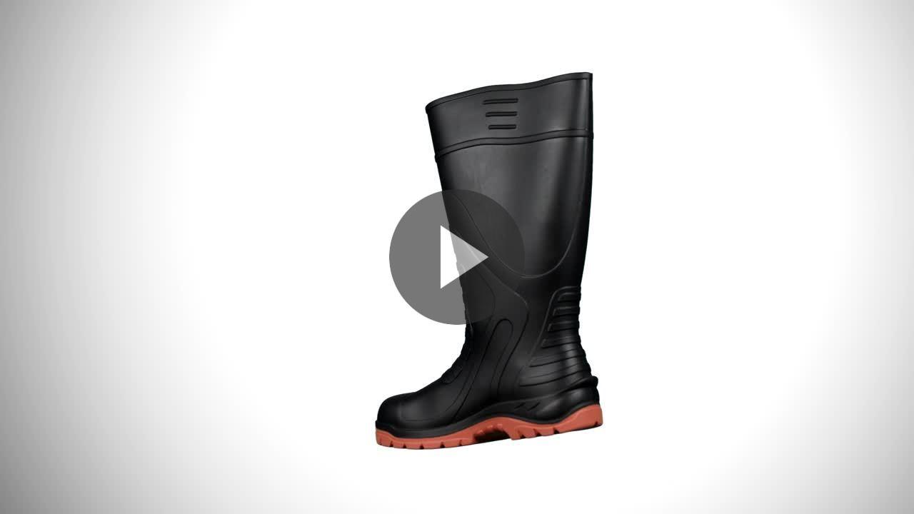 2b8ae2bea58 Men's Steel Toe Steel Plate PU Boots