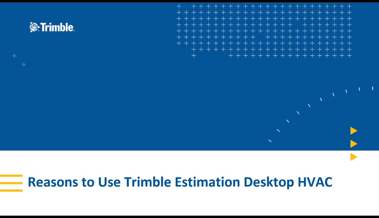 5 Reasons HVAC Contractors Use Trimble Estimation Desktop HVAC