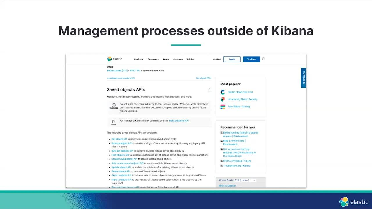 Video for The art of organizing - content management in Kibana