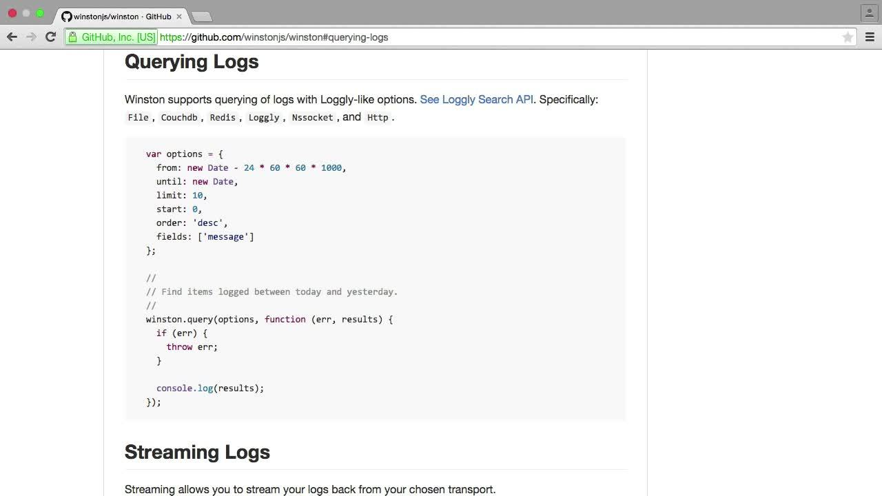Getting Started with Logging and Log Analysis in Node.js