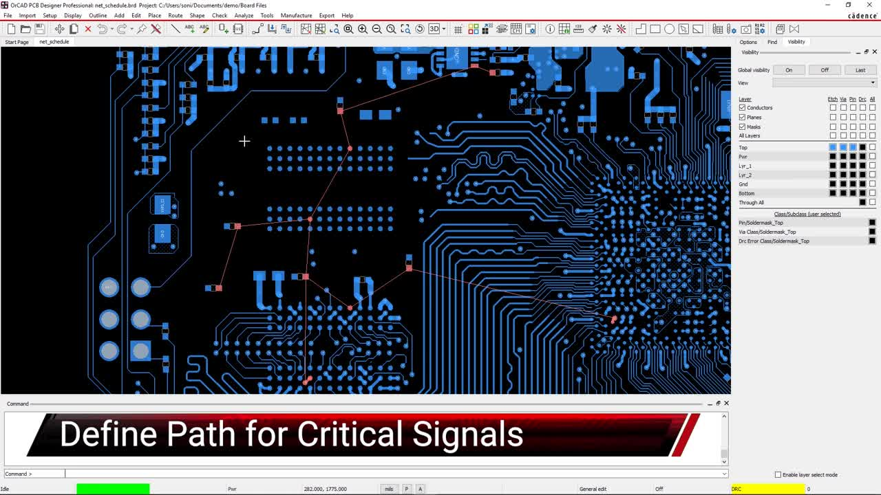 Define Path for Critical Signals