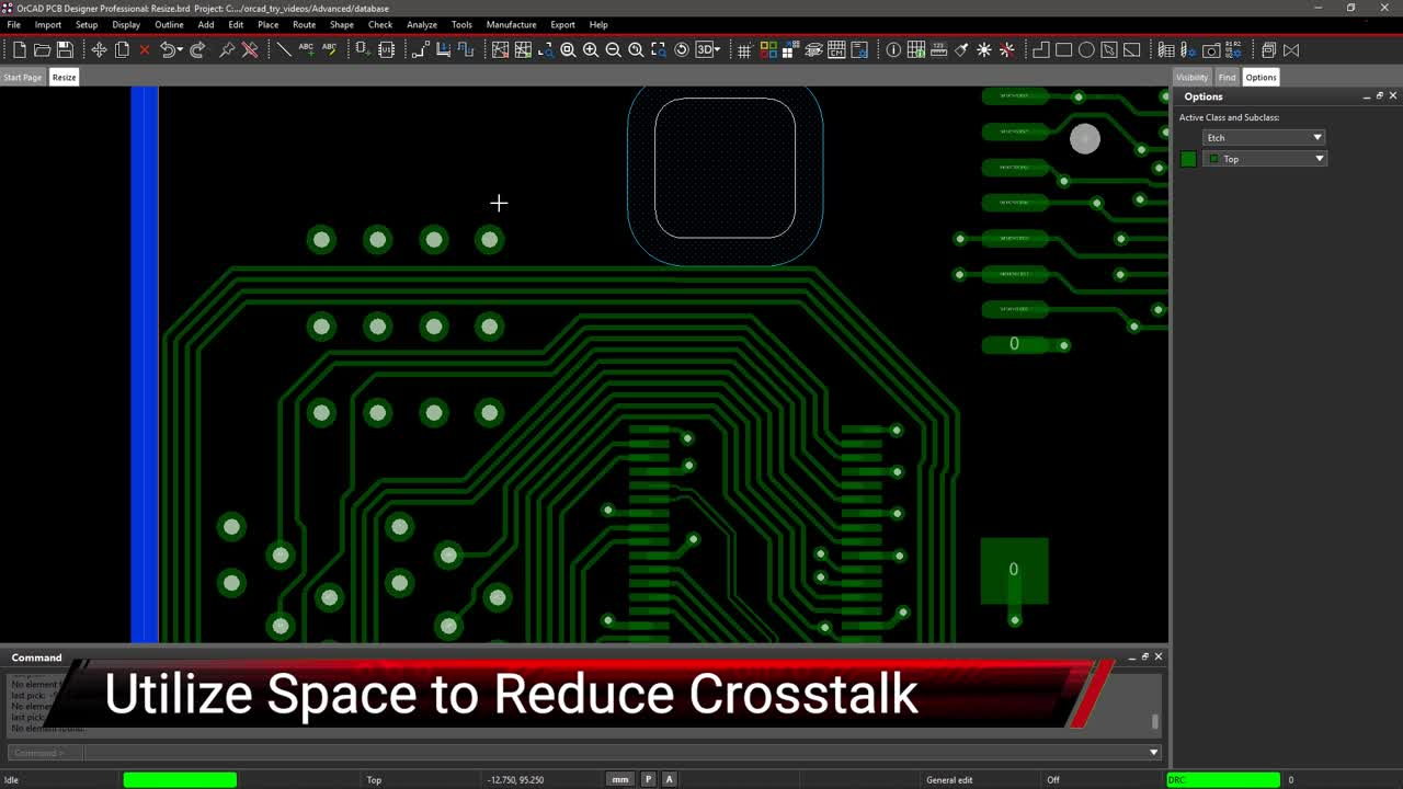 Utilize Space to Reduce Crosstalk