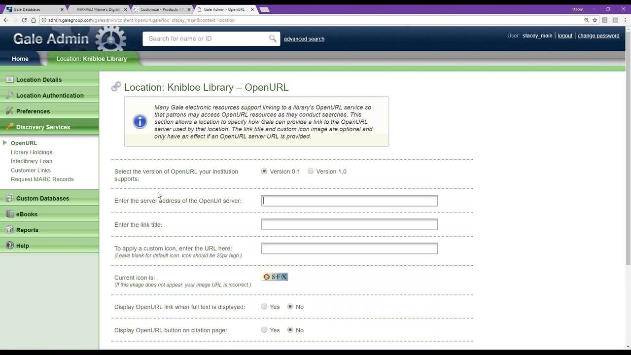 Gale Admin and PowerSearch for MARVEL (Digital Maine Library) Academic Libraries Thumbnail