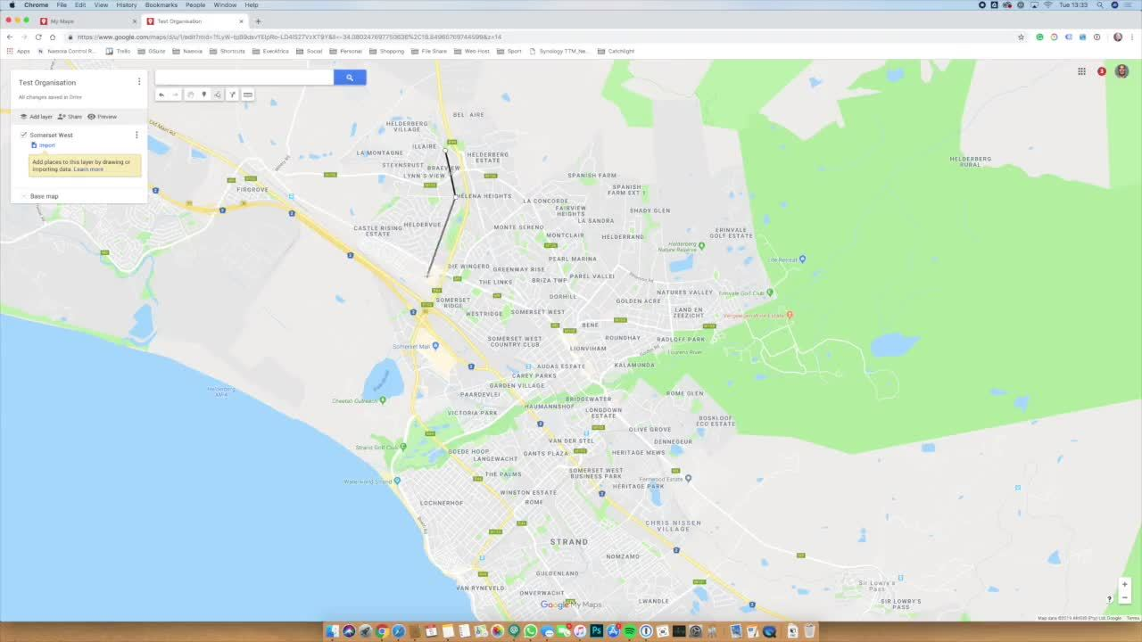 How to create KML files with MyMaps from Google