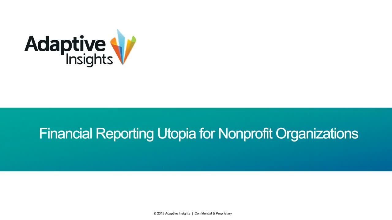 Screenshot for Financial Reporting Utopia for Nonprofit Organisations