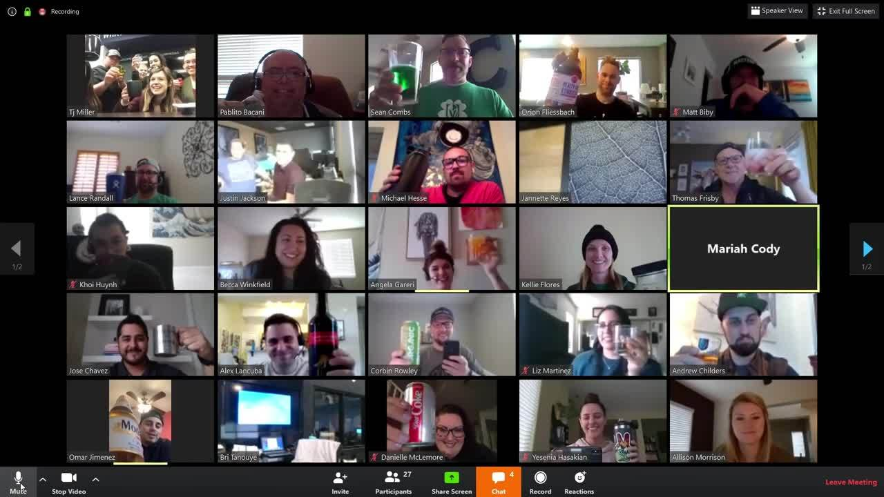 St Patricks Day Group Zoom 03-17-2020