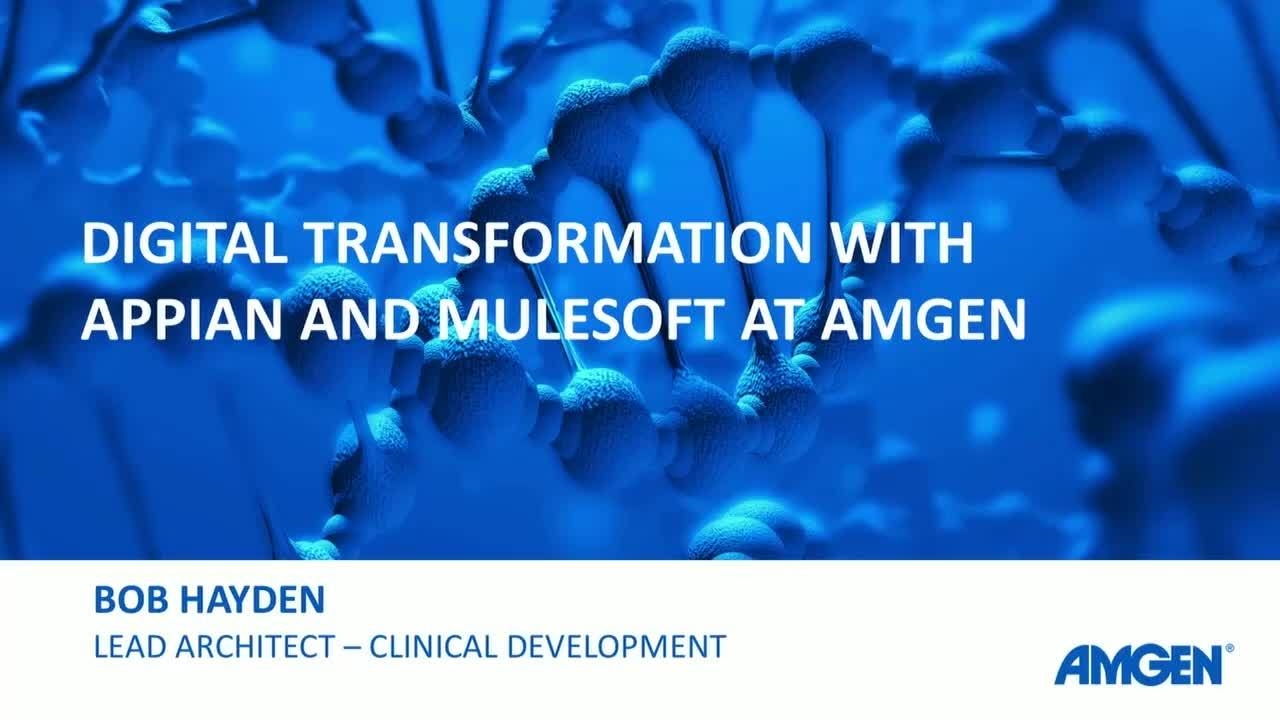 CONNECT 2018: Integration in a cloud first world: Amgen's approach to digital transformation
