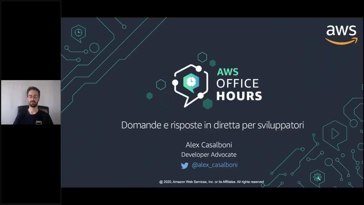 [Episodio 2] AWS Office Hours - domande e risposte per sviluppatori