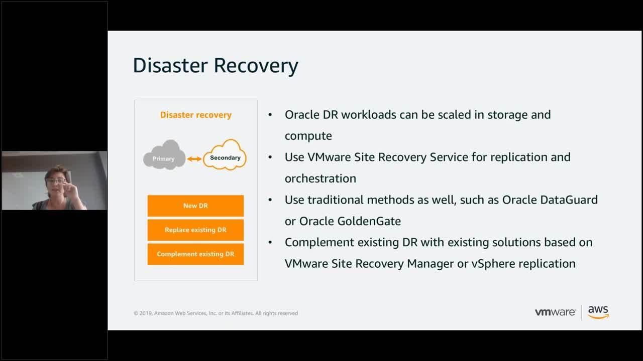 Distribuisci i tuoi carichi di lavoro Oracle su VMware Cloud On AWS