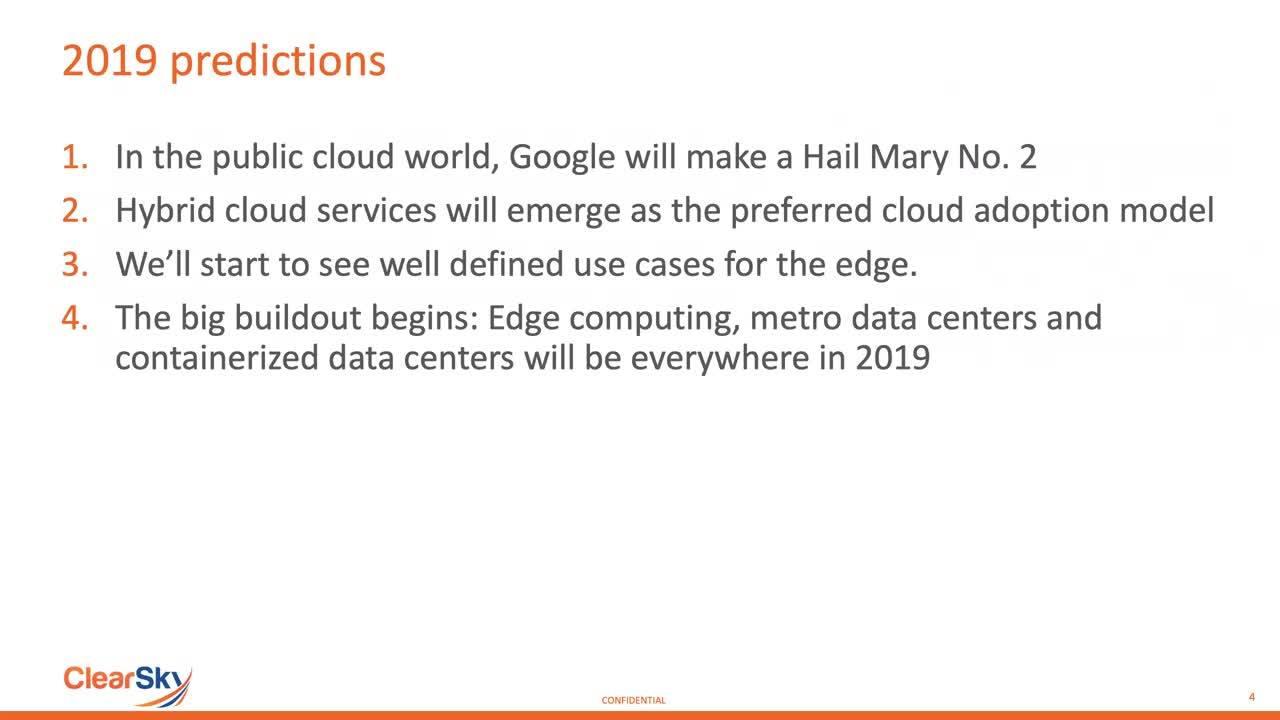2019 Cloud Storage Gets Even Edgier