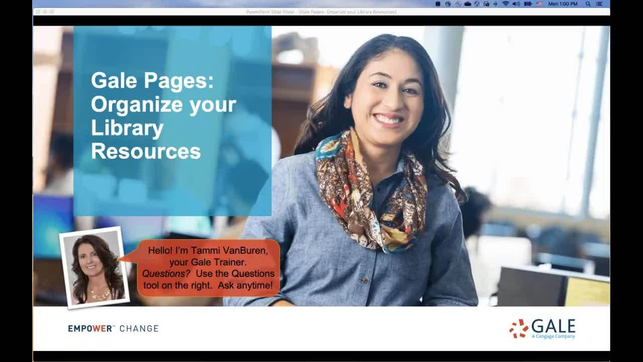Gale Pages: Organize your Library Resources Thumbnail