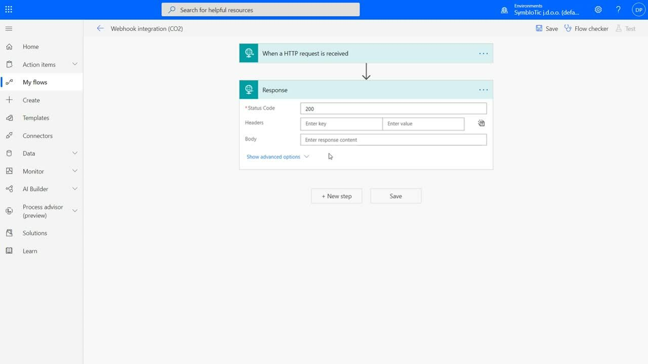 Integration with Power Automate
