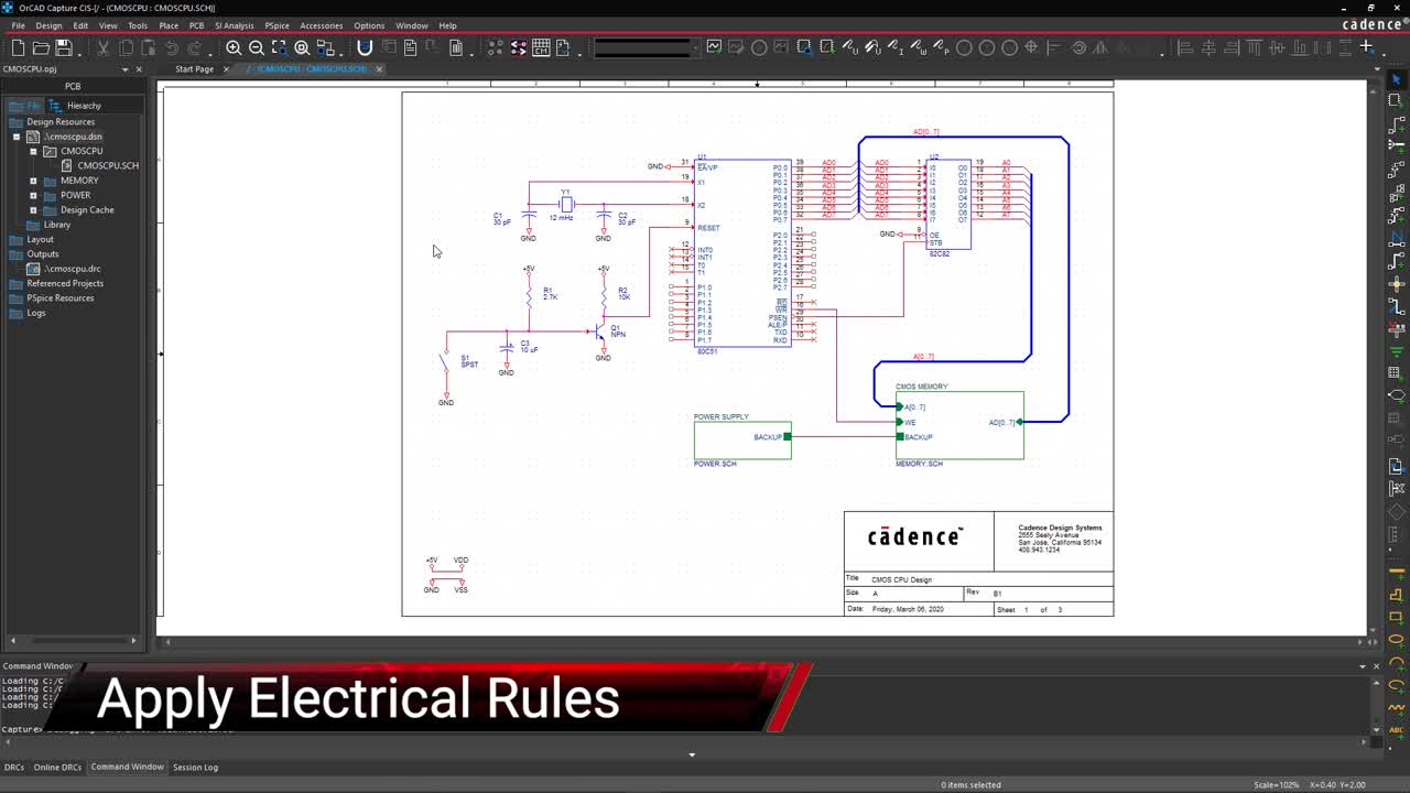 Apply Electrical Rules