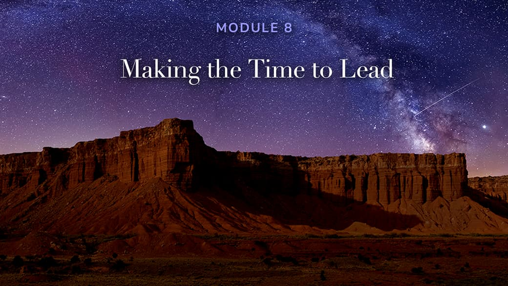 preview image for Making the Time to Lead