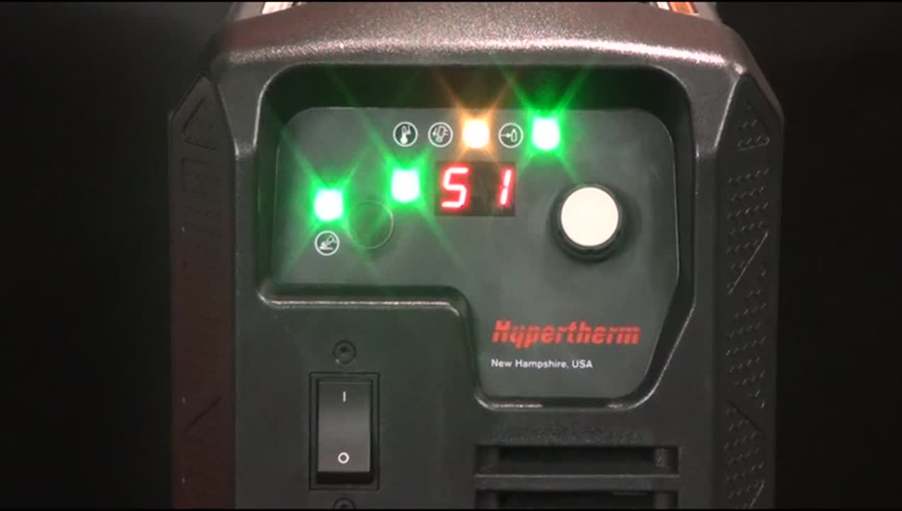 Powermax 0-51 Fault Code Start Signal at Power Up