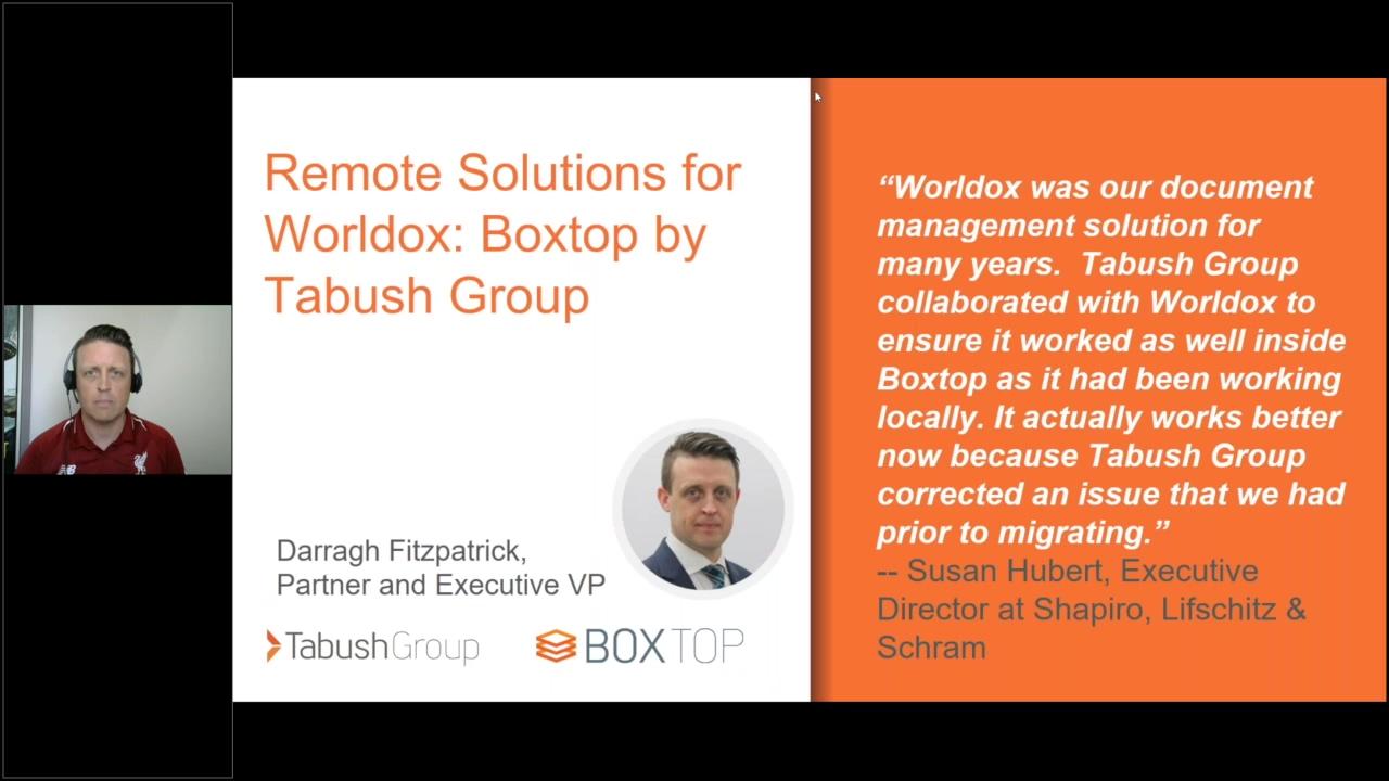 Worldox Webinar