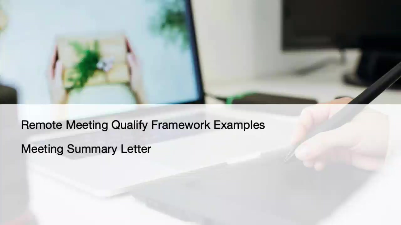 Qualify and Follupw Examples
