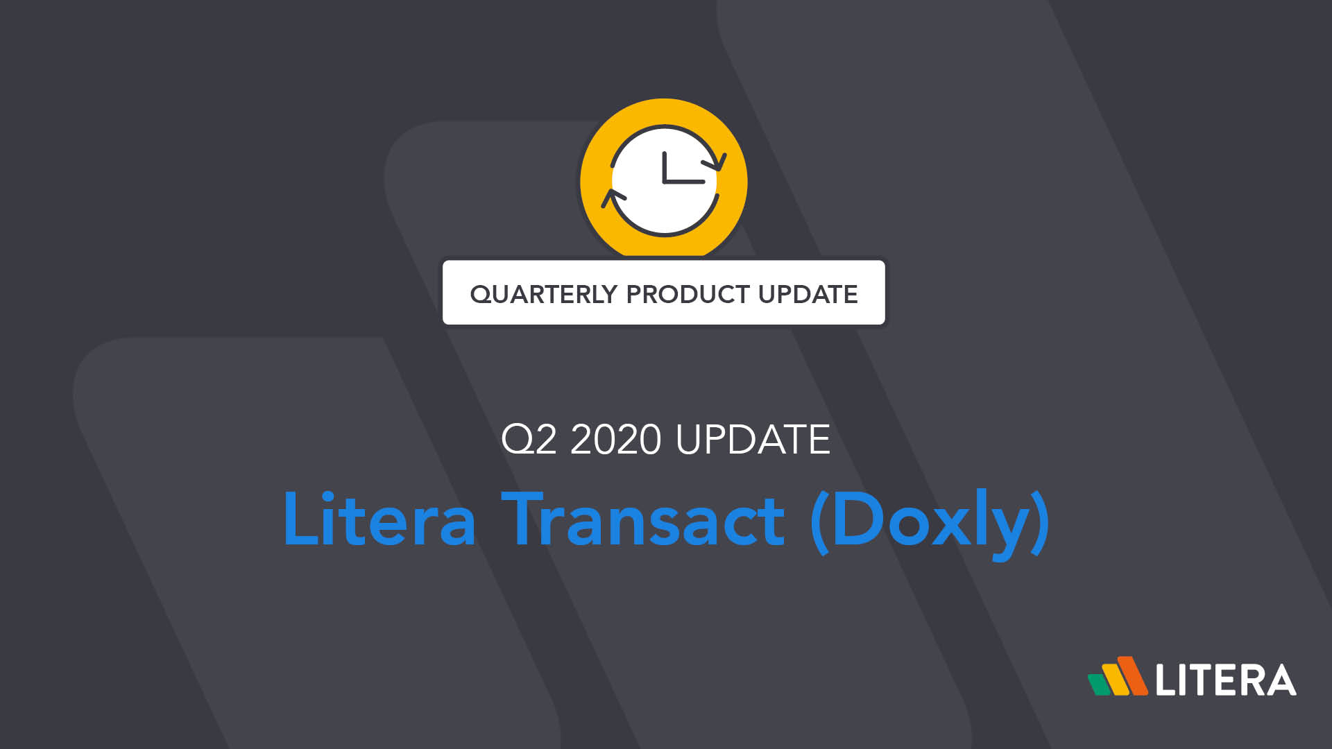 Litera Transact (Doxly) v3.13, 3.14, and 3.15 by Litera