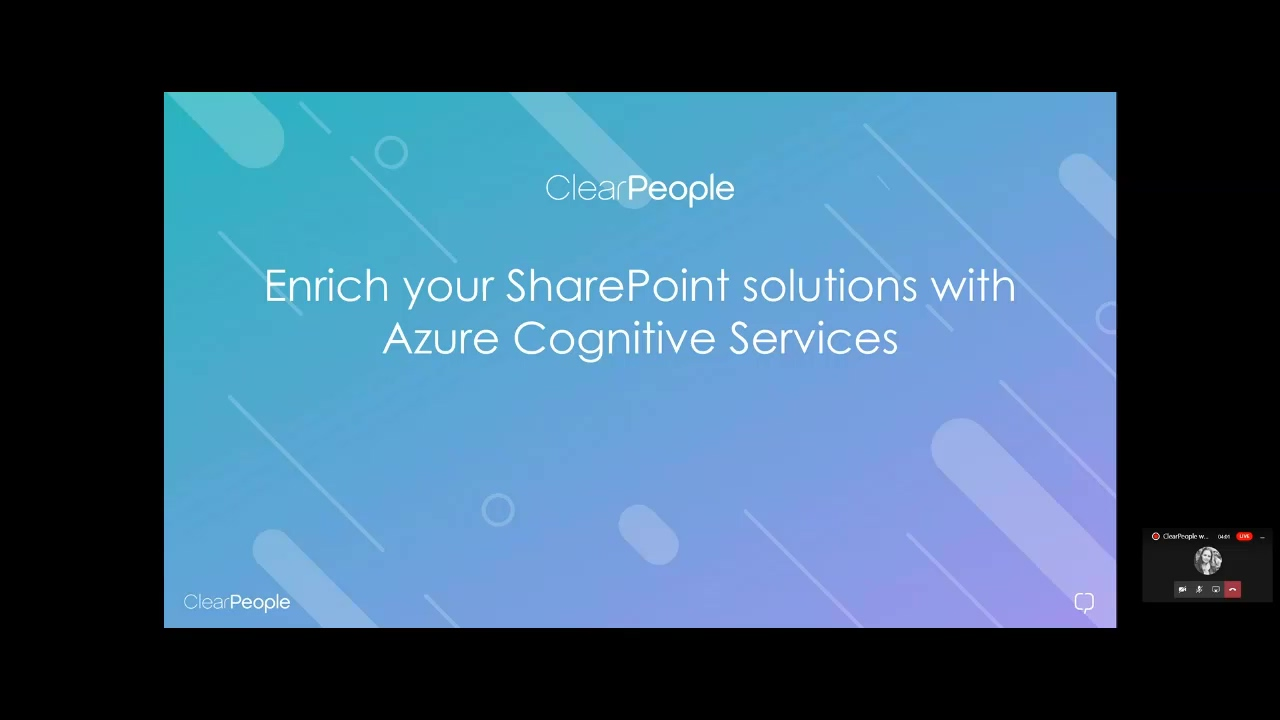 Integration between SPFx and Azure Cognitive Services14042020