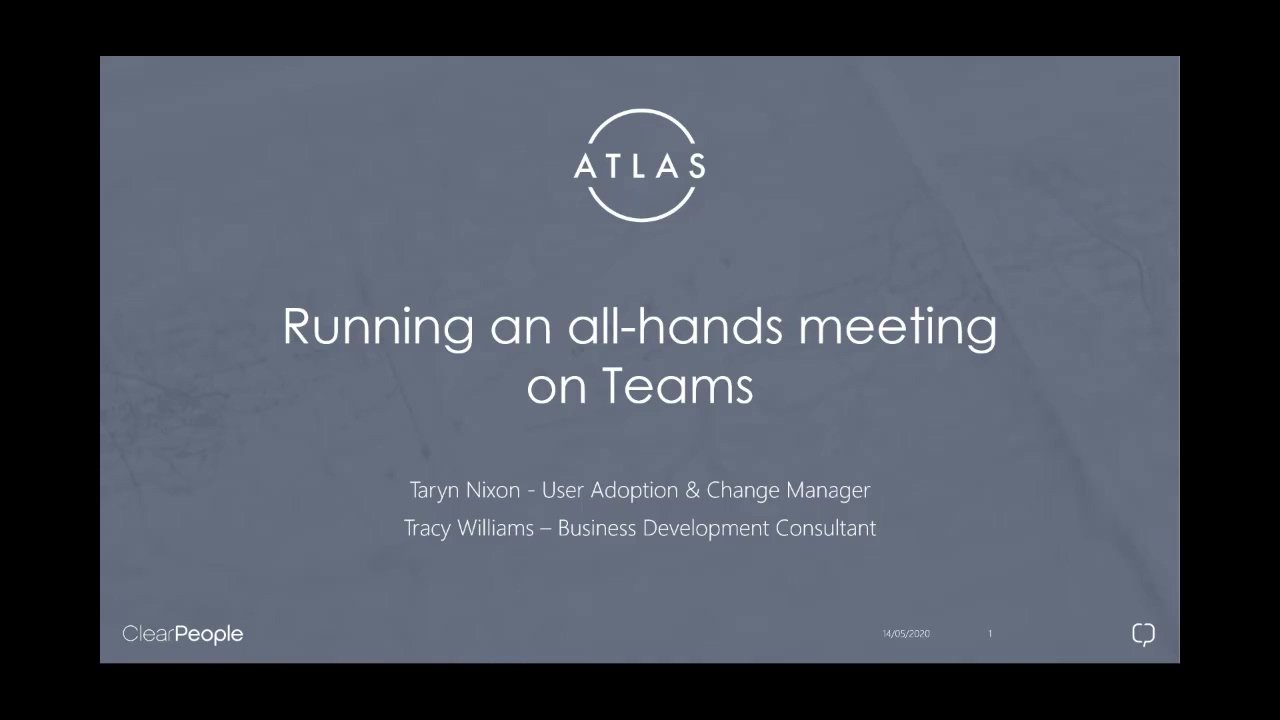 Running an all-hands meeting on Teams 14052020