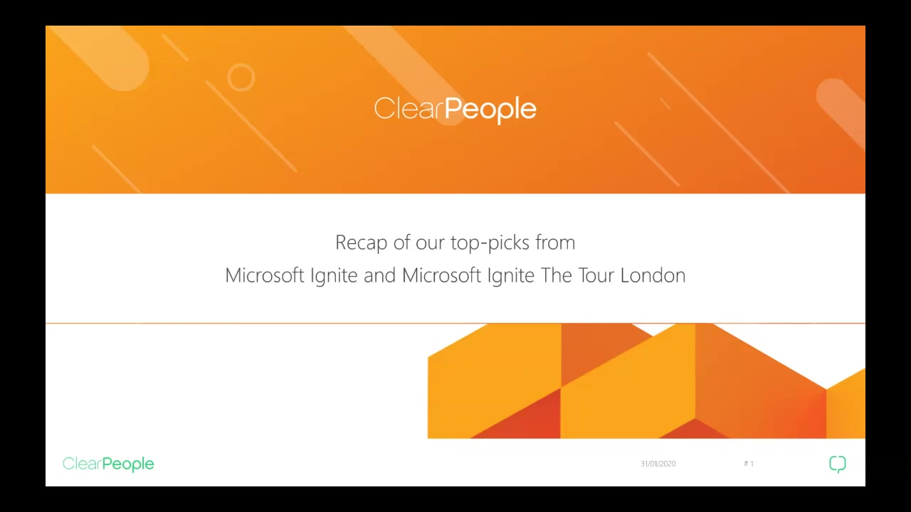 Recap of Microsoft Ignite the Tour 20200131