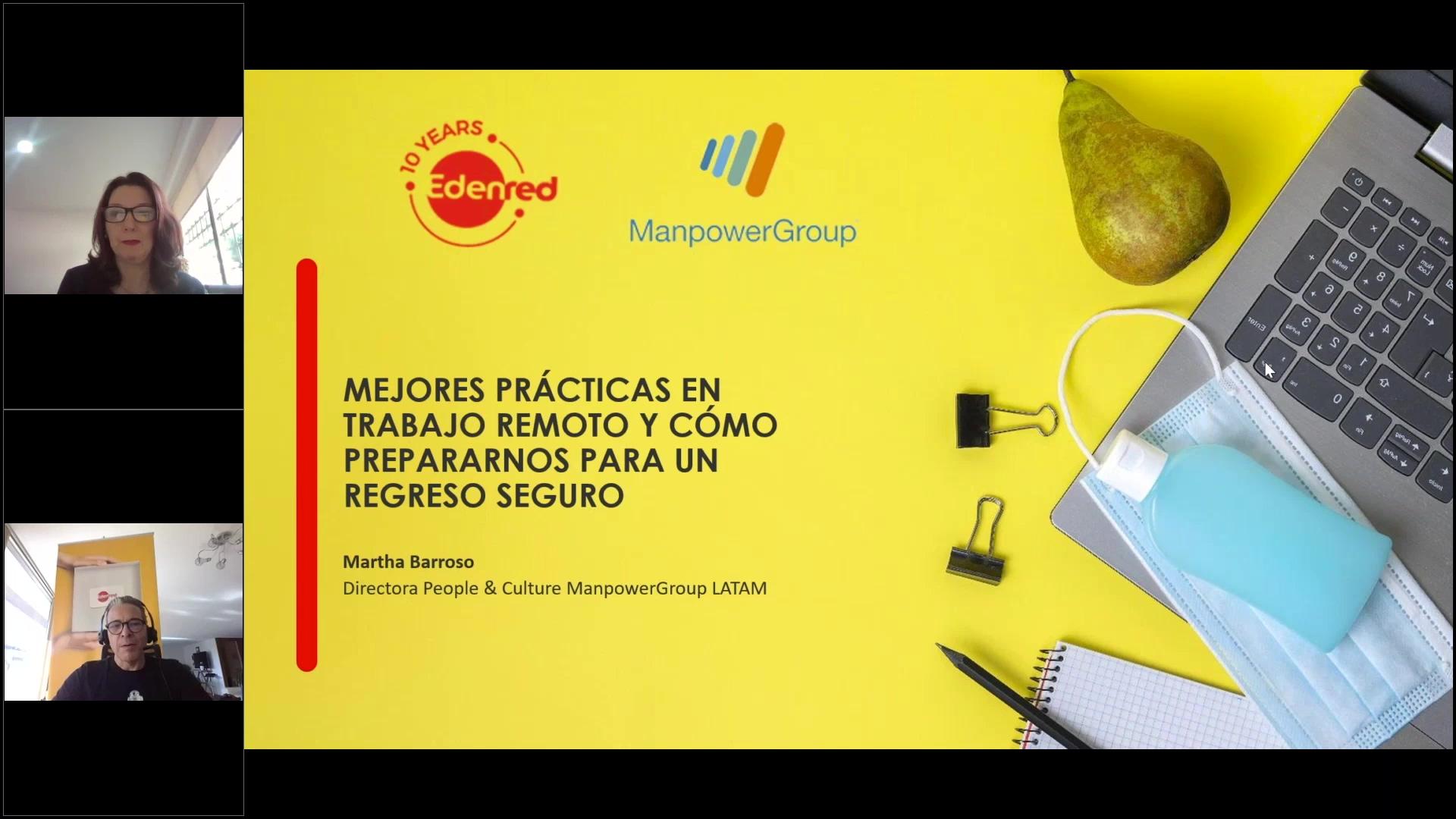 19 clip webinar Mejores prácticas en trabajo remoto y como prepararnos para un regreso seguro