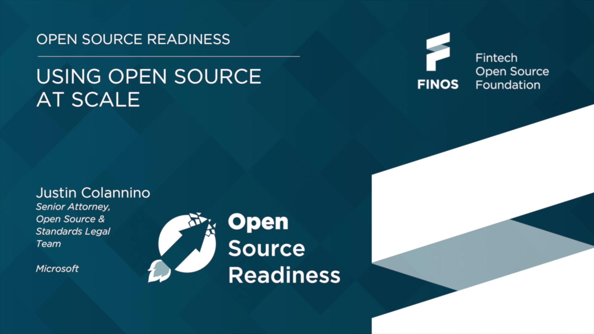 FINOS Open Source Readiness - Justin Colannino Microsoft