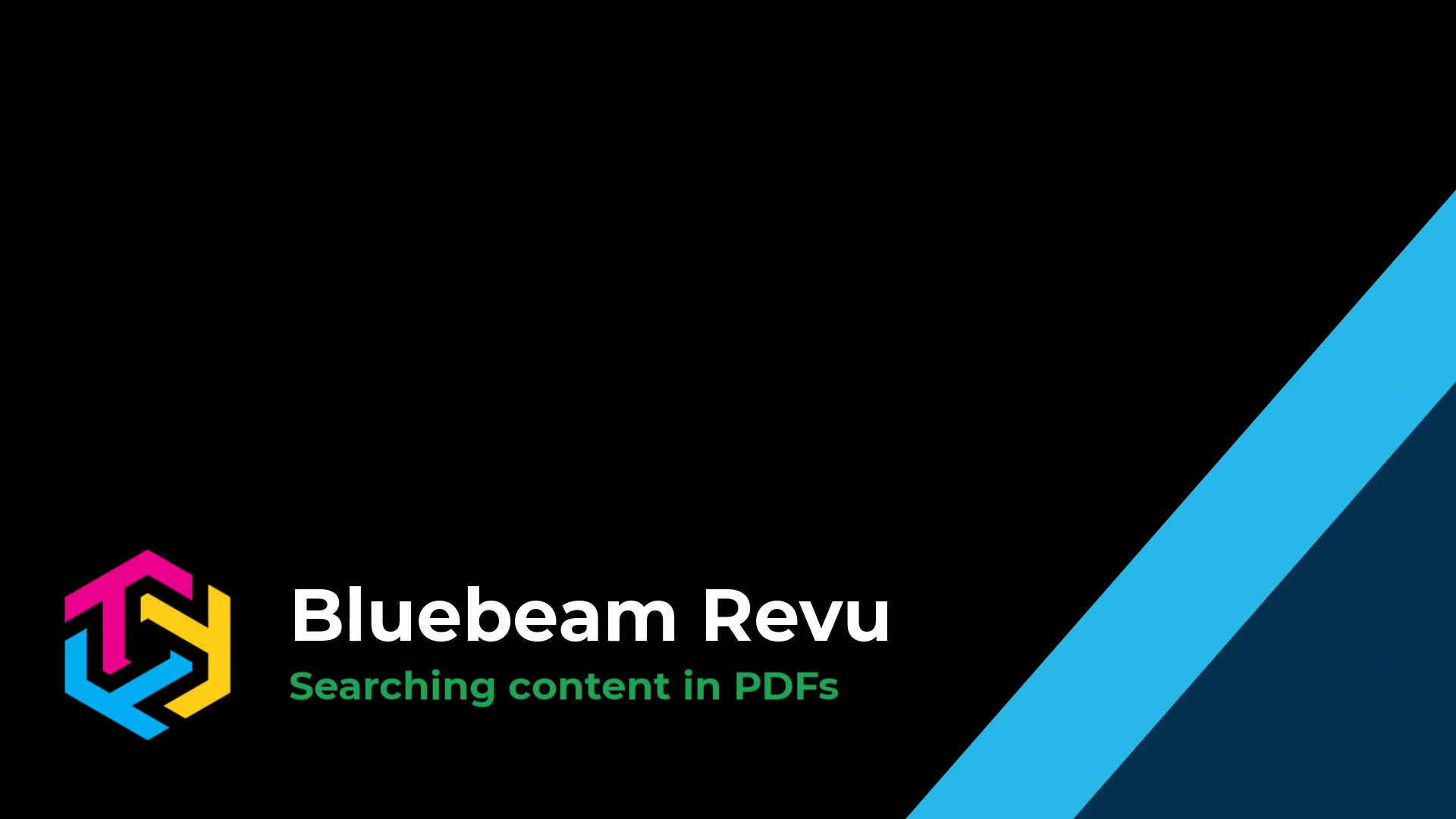 Searching PDFs in Bluebeam Revu 2019