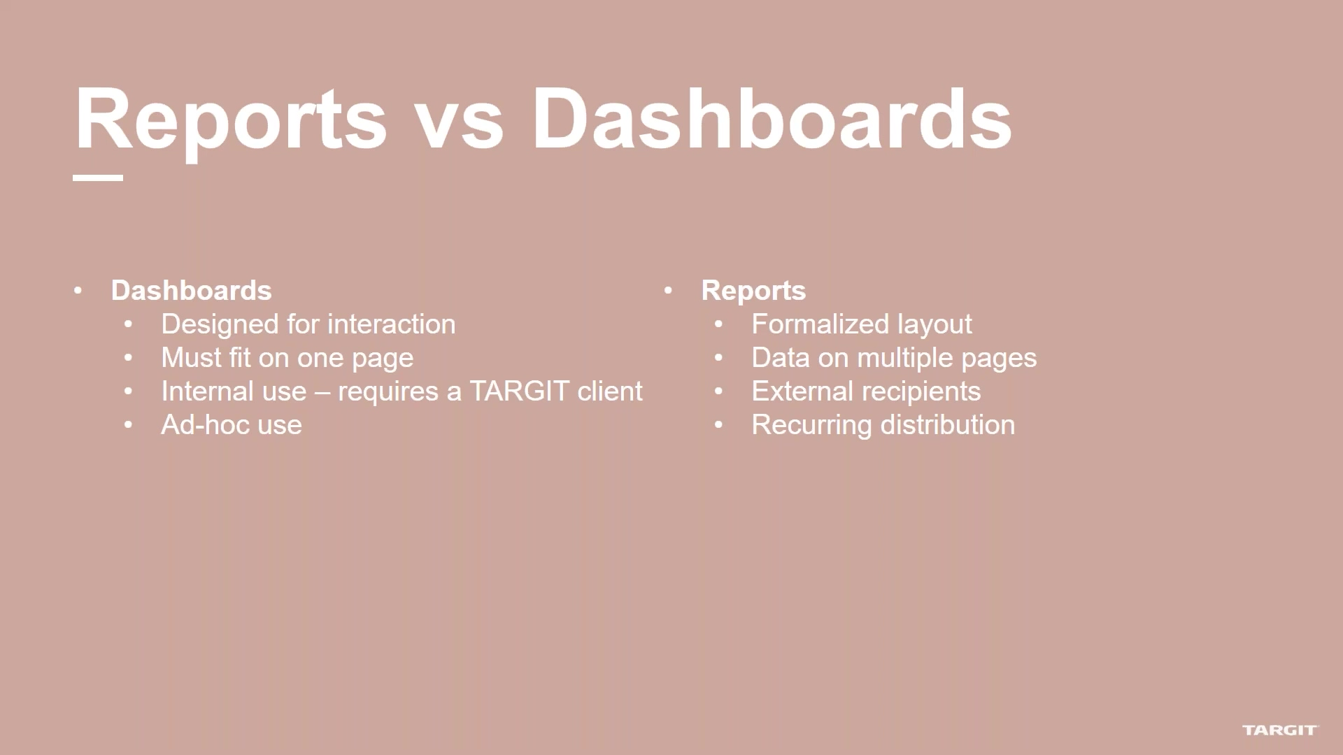 Creating and Distributing Reports