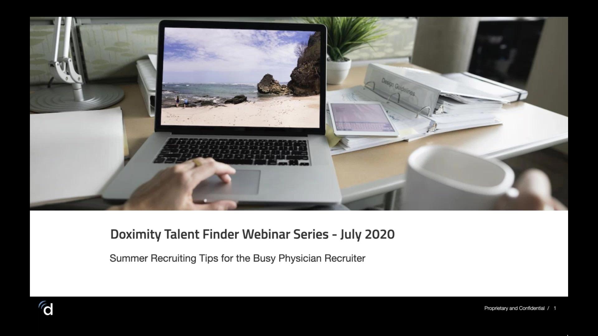 July 2020 Webinar Recording