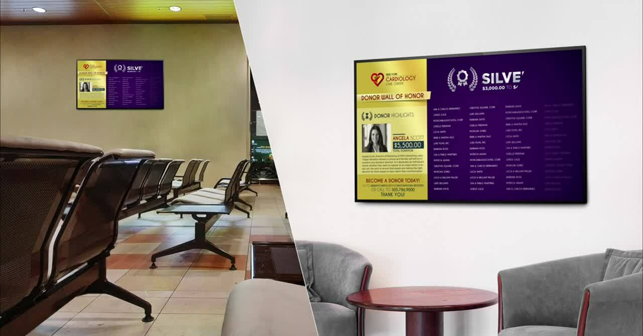digital donor recognition walls vs donor recognition board displays