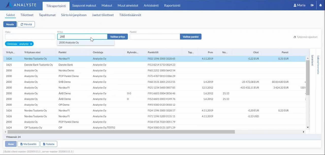 Banking HTML5 Prof 1 Saldot