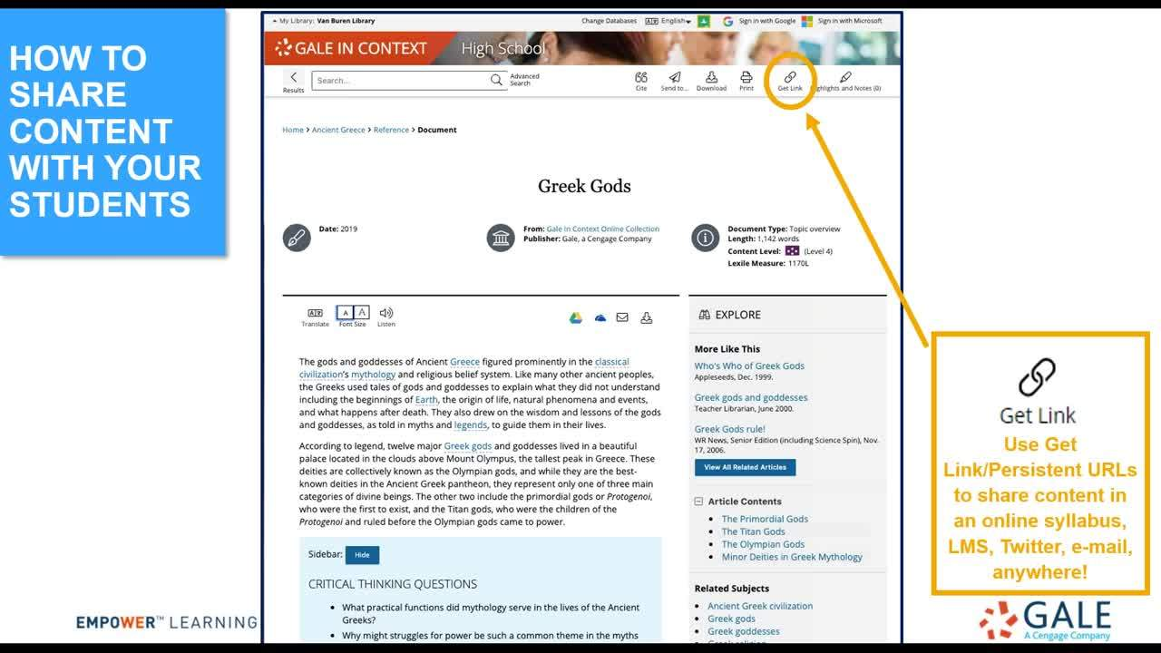 For VOL: Online Learning Tools Within Your VOL/Gale Resources Thumbnail