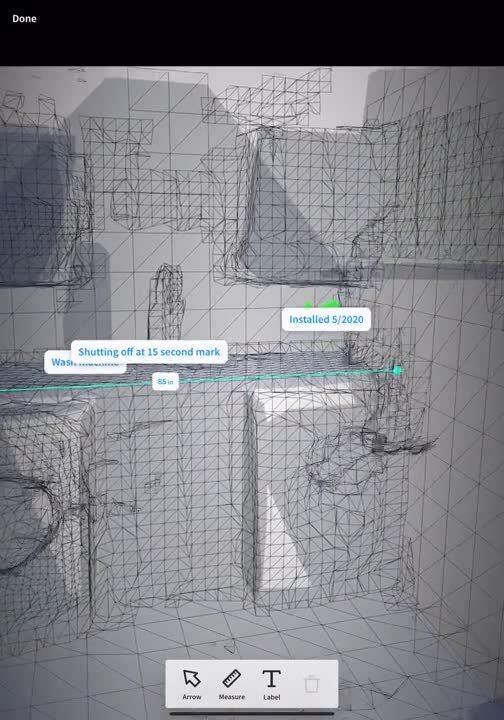 LiDAR iPAD OnSite Session 3D Scan details