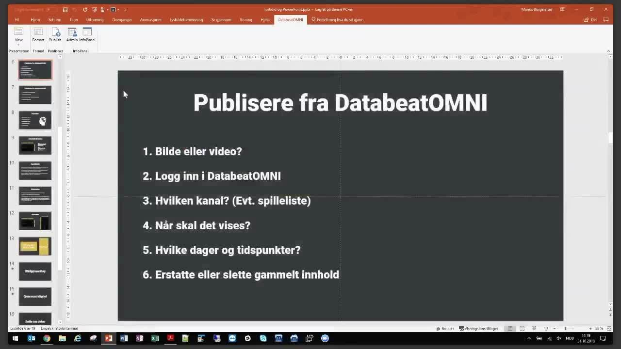 Webinar - Komme i gang med publisering i DatabeatOMNI og PowerPoint