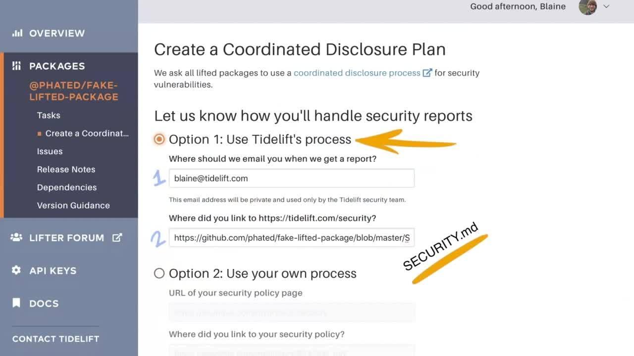 Create a Coordinated Disclosure Plan