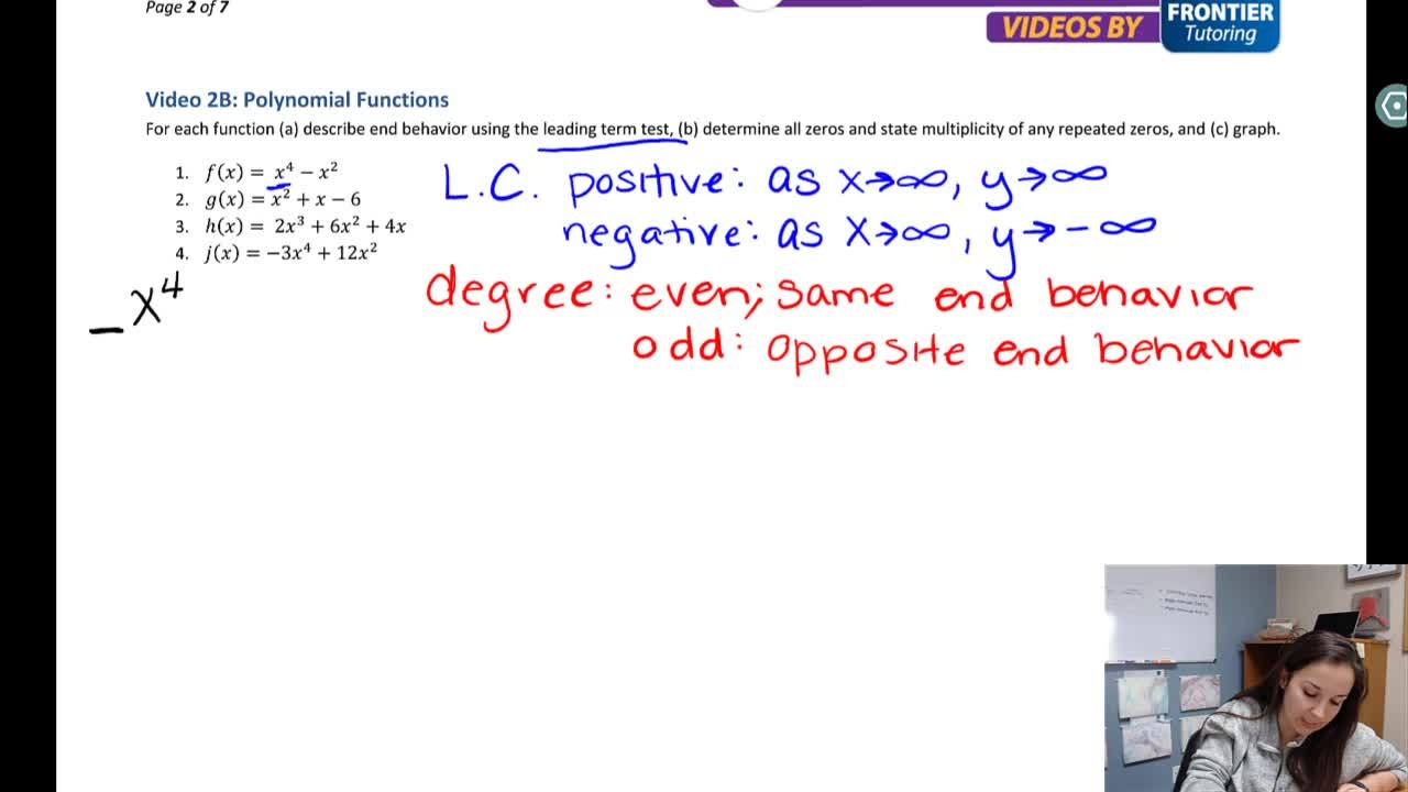MAKing Sense - Anchorage, AK Math Video Tutorials   Precalc Chapter 2