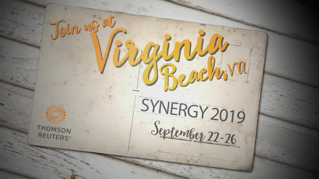 2019 synergy for governments location unveiled virginia beach 034 were so pleased to announce the 2019 location for thomson reuters annual synergy
