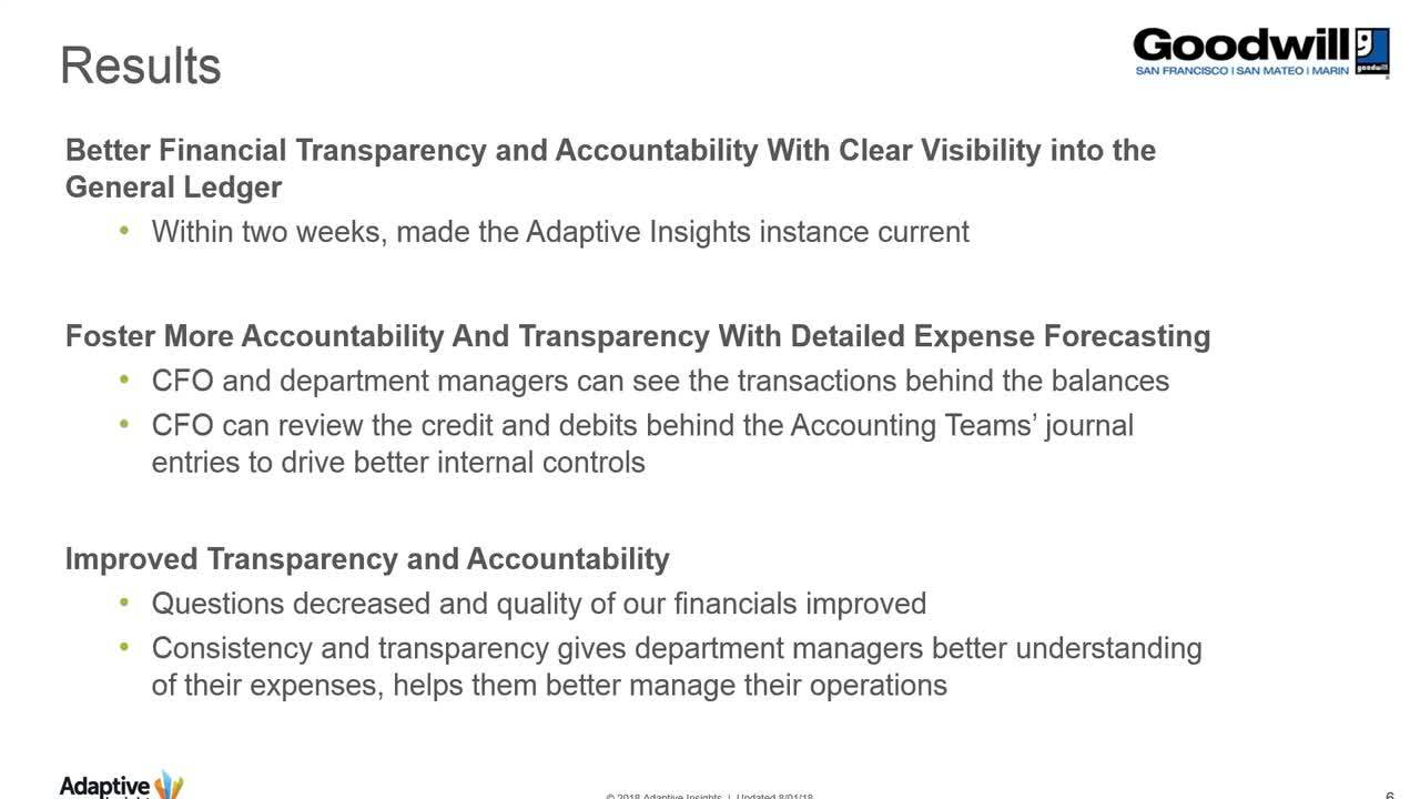 Screenshot for Driving Better Financial Transparency & Accountability for Your Nonprofit