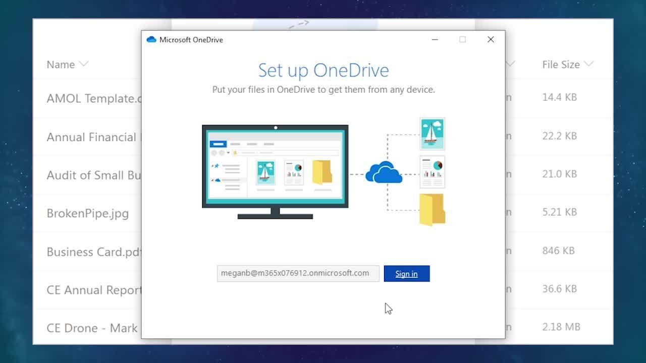 Demo-SetupOneDriveDesktop