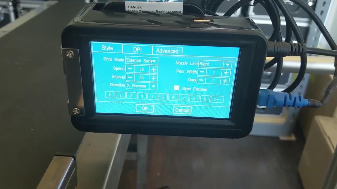 Meenjet M6 Automatic - Print Settings Screen