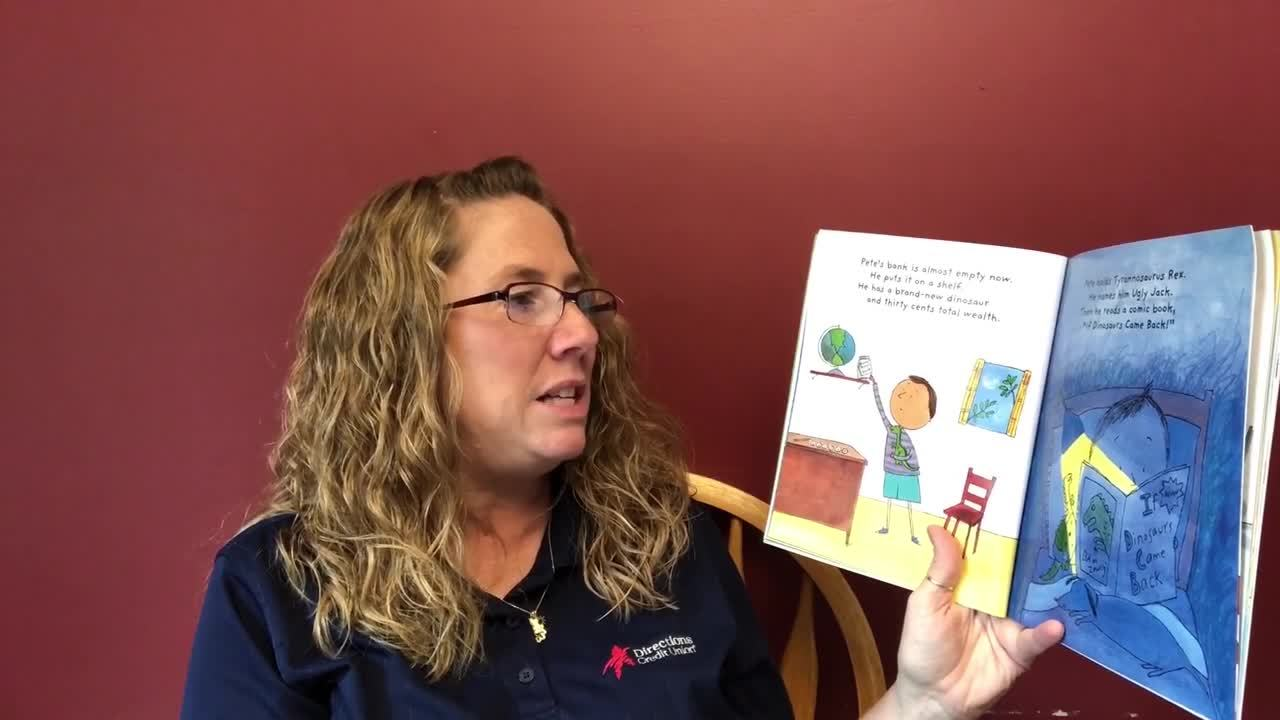 Smart Money Book Reading -You Cant Buy a Dinosaur with a Dime -Tina Wilson