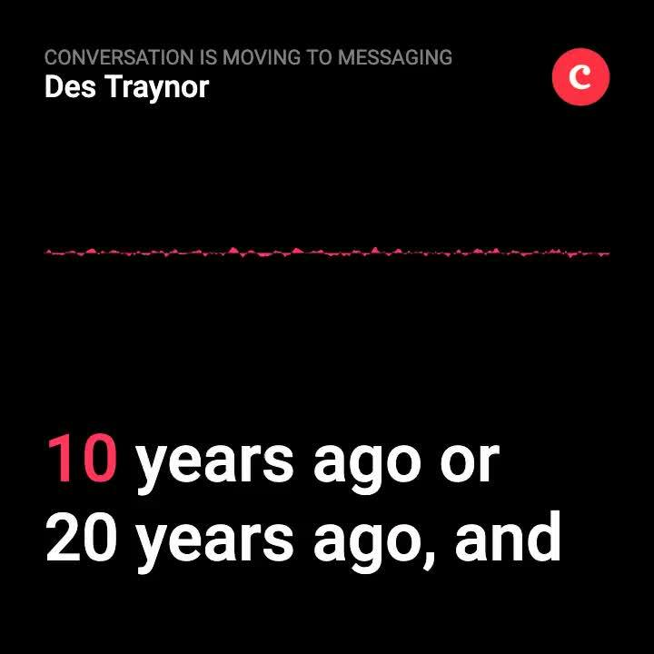 Conversation is moving to messaging 1