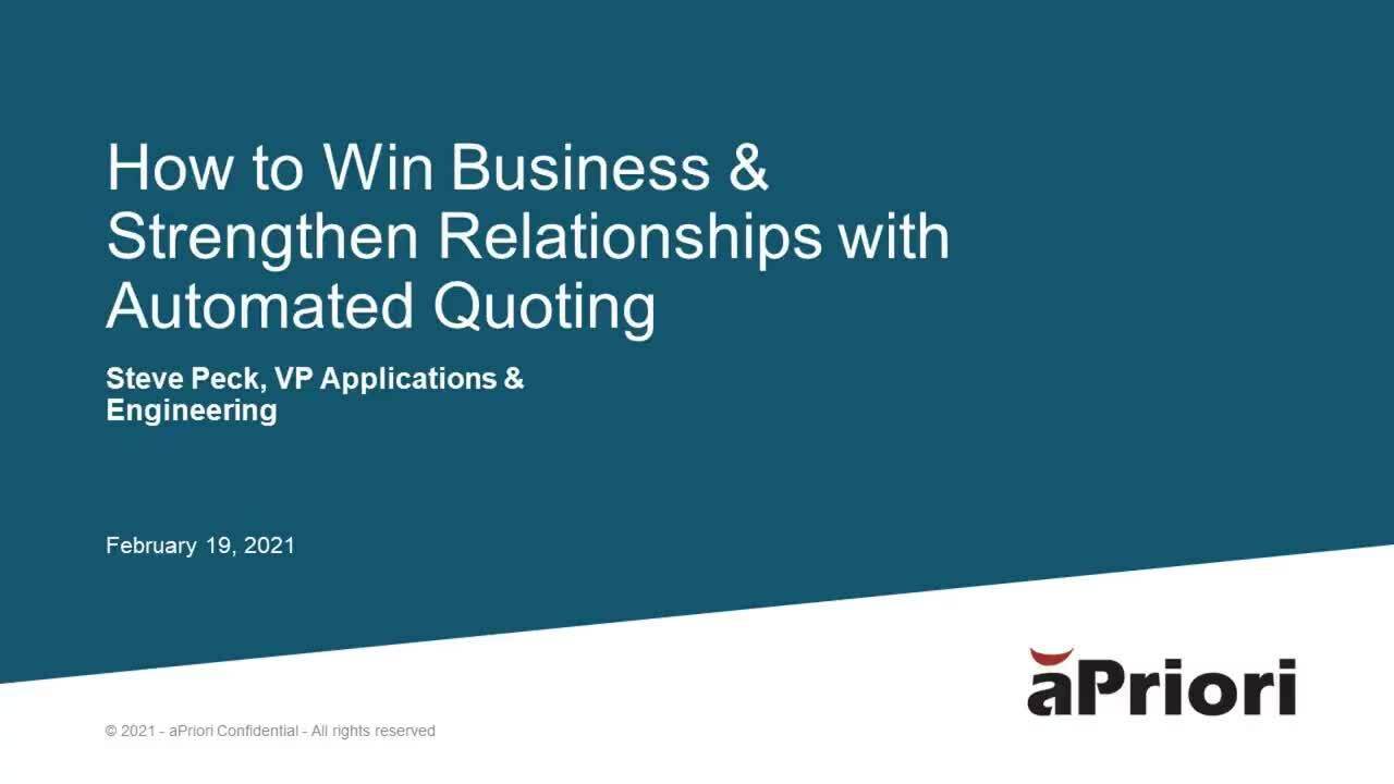 How To Win Business with Automated Quoting (short)