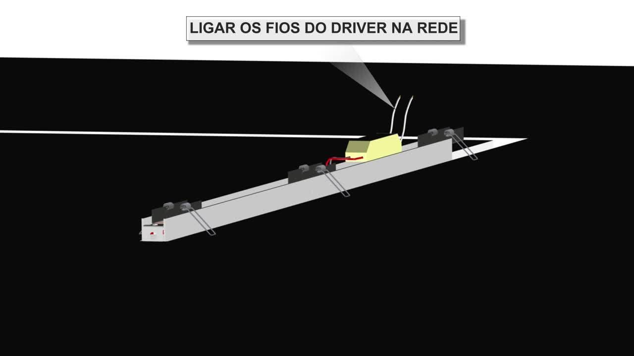 INSTALAÇÃO SISTEMA DE EMBUTIR FIT 25 LED