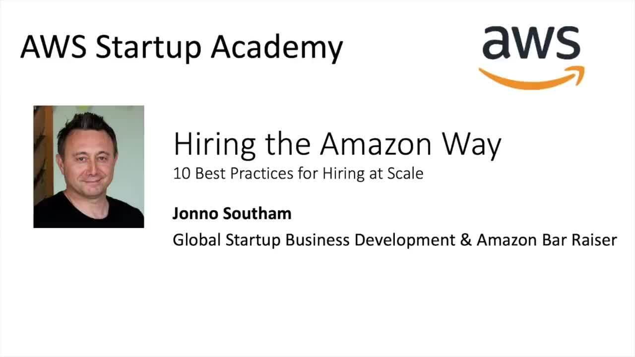 AWS Startup Academy: hire like a unicorn