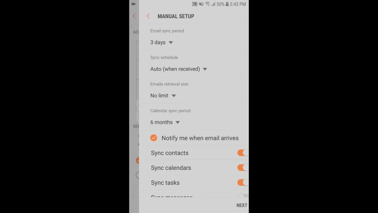 Setup Office 365 Email on Androids Native Mail Client